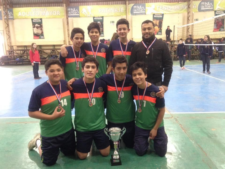 Primer lugar en Campeonato Provincial de Voleibol