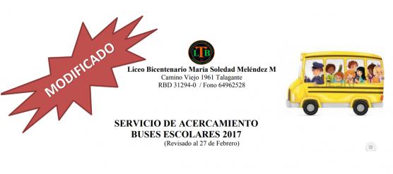RECORRIDO DE TRANSPORTE DE ACERCAMIENTO 2018