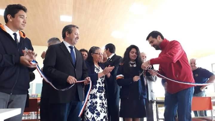 INICIO DEL AÑO ACADÉMICO 2018 E INAUGURACIÓN DEL REMODELADO CASINO EN EL LICEO BICENTENARIO DE TALAGANTE