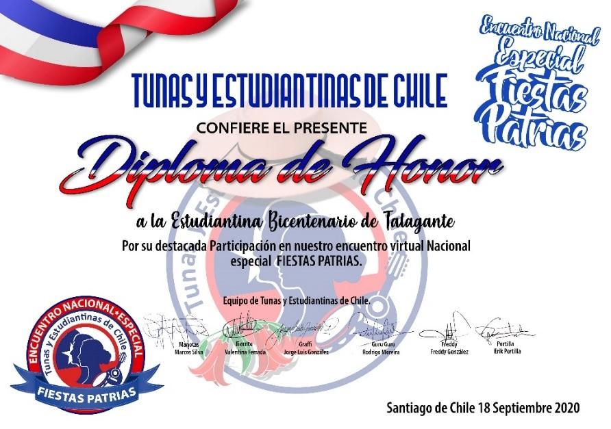 ESTUDIANTINA DEL LICEO BICENTENARIO EN ESPECIAL NACIONAL DE FIESTAS PATRIAS.